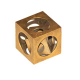 Riddle cube in a cube. Royalty Free Stock Image