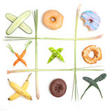 The riddle of a healthy diet Royalty Free Stock Photography