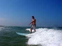 The Ride. A Florida teenager surfing Stock Photos