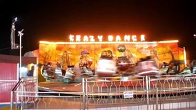 Ride in amusement park stock footage