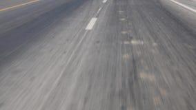 Ride on an asphalt road stock video