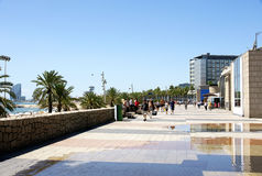 Ride Barceloneta. In Barcelona's Olympic Village Royalty Free Stock Images
