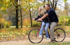 Ride A Bicycle Royalty Free Stock Image