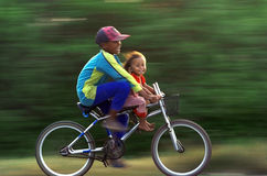 Ride bicycle Royalty Free Stock Images