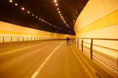 Ride bicycle in Hangzhou tunnel Stock Photos