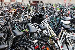 Ride a bike in Amsterdam Royalty Free Stock Photography