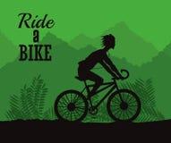 Ride a bike design Stock Photography