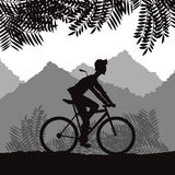 Ride a bike design Stock Images