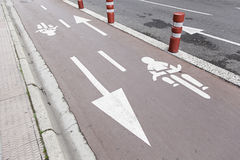 Ride a bike lane Royalty Free Stock Photography