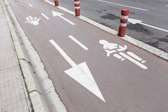 Ride a bike lane Royalty Free Stock Photography