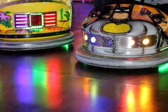 A ride bumper cars Royalty Free Stock Photo