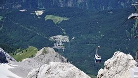 View to the cable car to Zugspitze royalty free stock photo