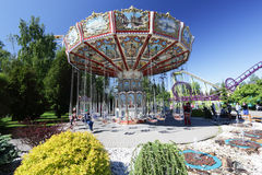 Ride the carousel. Saint-Petersburg. Royalty Free Stock Images