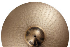 Ride cymbal background stock images