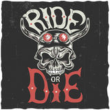 Ride Or Die Label Poster Royalty Free Stock Photo