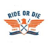 Ride or die motor garage for t-shirt,tee design Royalty Free Stock Photos