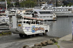 Ride the Duck, Seattle, USA. World War II landing vehicles are used for sight seeing tours in Seattle, Washington, USA Royalty Free Stock Photo