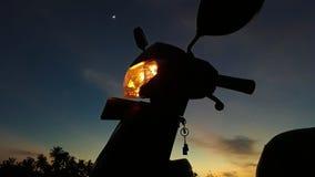 Ride at dusk stock photos