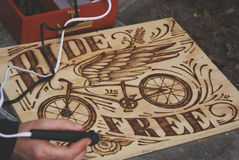 Ride Free wood sign Royalty Free Stock Images