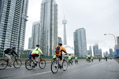Ride for Heart in Toronto Royalty Free Stock Image