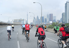 Ride for Heart in Toronto Stock Photo