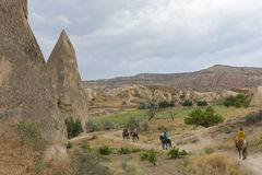 Ride horses in Cappadocia Royalty Free Stock Photography