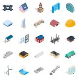 Ride icons set, isometric style. Ride icons set. Isometric set of 25 ride vector icons for web isolated on white background Royalty Free Stock Photos