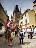 Prague - Ride Of The Kings, Cultural Ceremonial Royalty Free Stock Photos