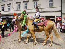 Men Ride on horseback  Stock Photos