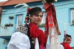 Ride of the Kings folklore festival in Vlcnov, Czech Republic Stock Photo