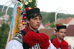 Ride of the Kings folklore festival in Vlcnov, Czech Republic Royalty Free Stock Image