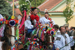 Ride of the Kings folklore festival in Vlcnov, Czech Republic Stock Photos