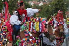 Ride of the Kings folklore festival in Vlcnov, Czech Republic Stock Photos