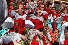 Ride of the Kings folklore festival in Vlcnov, Czech Republic Royalty Free Stock Photos
