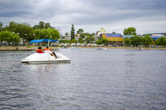 Ride on the lake Royalty Free Stock Photo