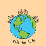 Ride for life Stock Photo