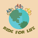 Ride for life Stock Images