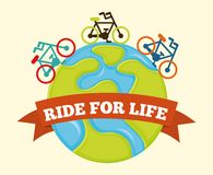 Ride for life Stock Photography