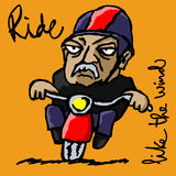 Ride like the wind Stock Images