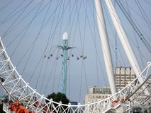 Ride in London. Swing taken through the London eye Stock Photo