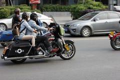 Ride a motorcycle Stock Photos