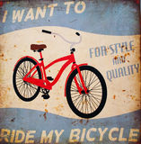 Ride my bicycle vector illustration