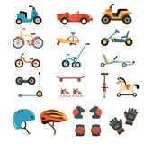Ride-On Toys Elements Collection Royalty Free Stock Image
