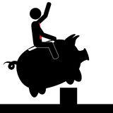 Ride the pig Stock Images