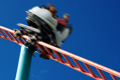 Ride on Rollercoaster Royalty Free Stock Images
