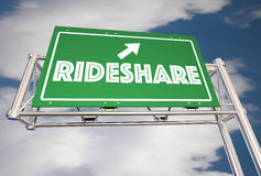 Ride Share Freeway Sign Carpool Commuters vector illustration