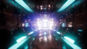 Ride in a spaceship tunnel stock footage