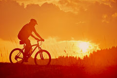 Ride in the sunrise Royalty Free Stock Photo