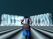 Ride to success. Royalty Free Stock Photo