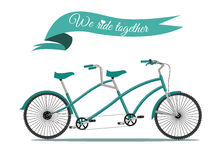 We ride together. Royalty Free Stock Photography